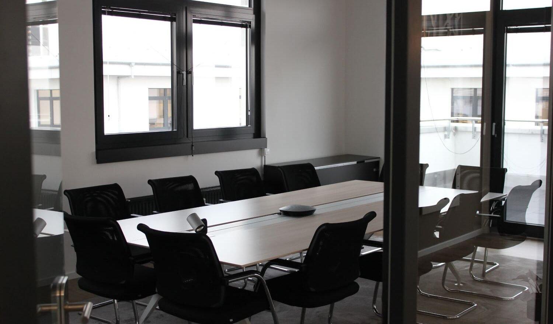 Meetingraum im Office Hamburg.