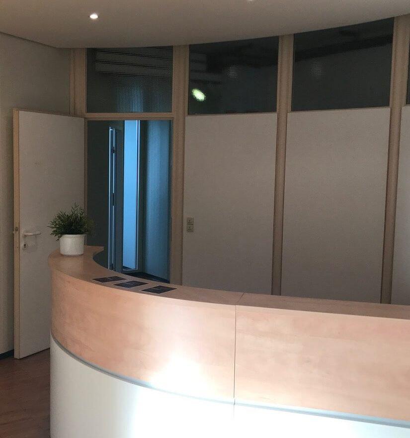 Empfangsbereich im Office Pforzheim