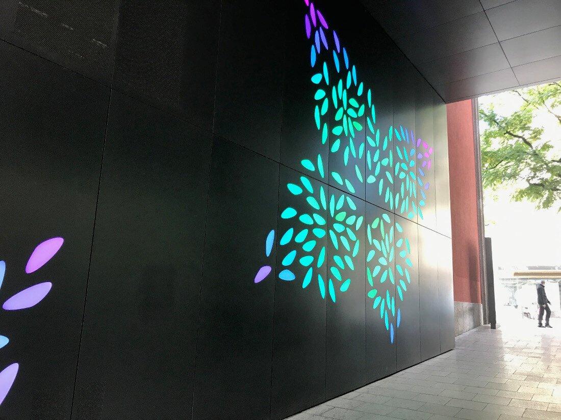 Muster an der Außenseite des Office Stuttgart