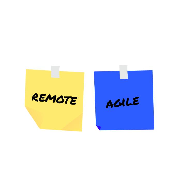 Remote & Agile auf Haftnotiz
