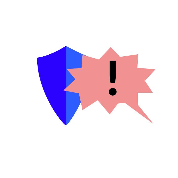 Ein Schild schützt vor verbalem Angriff