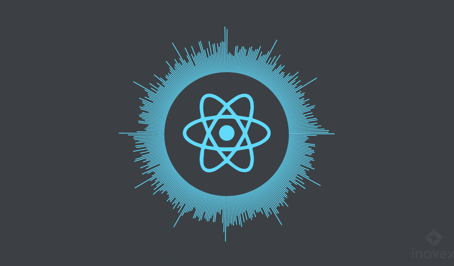 The react native logo surrounded by 365 bars