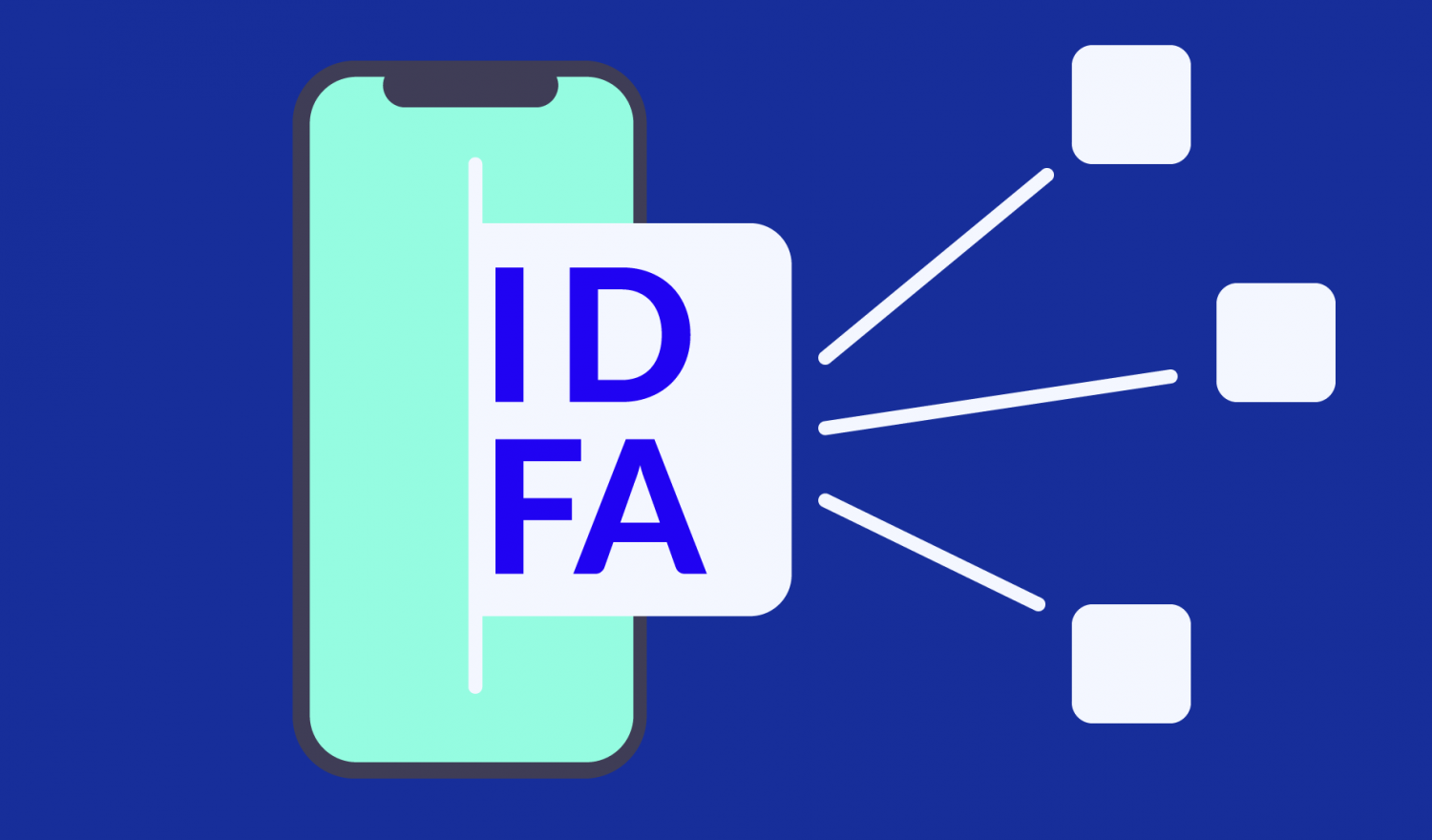 A user IDFA emerging from an iPhone