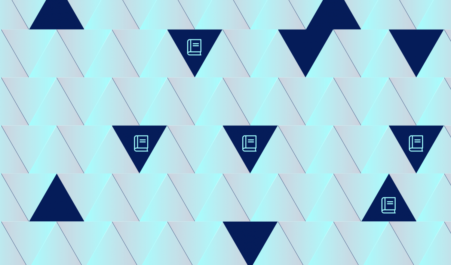 A triangle pattern hiding ledger icons