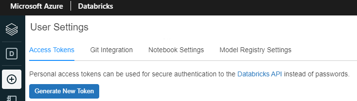 Generate a personal access token in your Databricks workspace