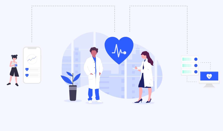 Illustration: Digitalisierung im Gesundheitswesen