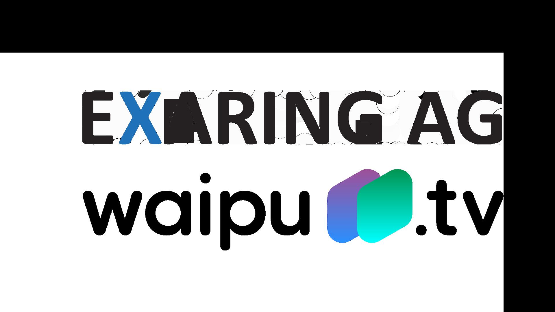 Logos von Exaring und waipu.tv