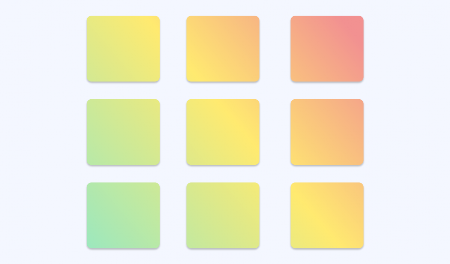 Sticky notes ranking from green to red