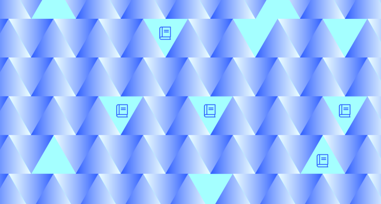 Ledgers in a triangle pattern