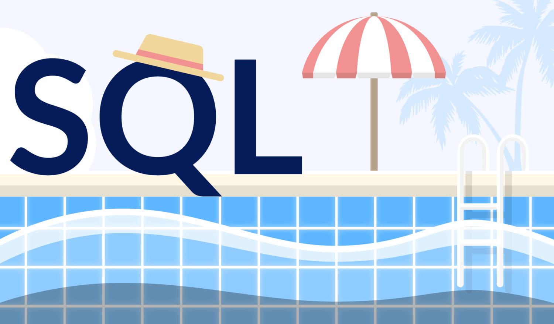 die Buchstaben SQL am Pool